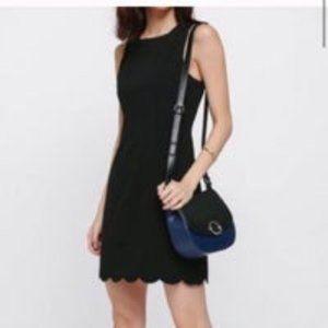 Monteau Scalloped Hem Sleeveless Sheath Dress